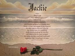 Home Decor Meaning Jackie First Name Meaning Art Print Name Meaning