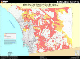 State Map Of California by Cal Fire San Diego County Fhsz Map