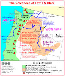 map of oregon mountains the volcanoes of lewis and clark lewis and clark in the pacific