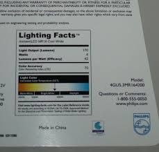 philips makes its own lighting facts labels leds