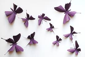 bedroom cute removable 3d butterflies wall craft decorations for full size of black purple butterflies small big 3d wall craft wall sticker 3d