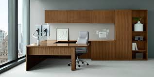 bureau pour professionnel bureau pour open space en plaqué bois contemporain