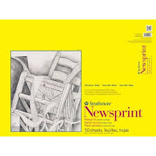 strathmore 300 newsprint pads 18 x 24 smooth 50 sheets