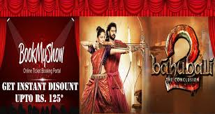 book movie tickets for baahubali 2 and get instant discount upto