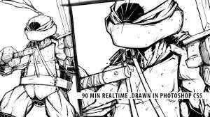 speed drawing teenage mutant ninja turtles leonardo