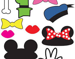 mickey mouse photo booth props baby donald duck clipart