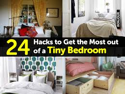 24 hacks to get the most out of a tiny bedroom