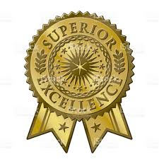 Seal Ribbon Gold Certificate Award Seal Superior Excellent Achievement Stock