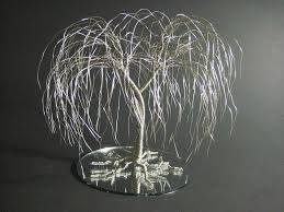 willow tree topper silver willow wire tree wedding cake topper mixed media by ken