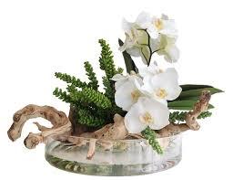 Modern Flower Vase Arrangements Orchid And Round Modern Vase Arrangement 16