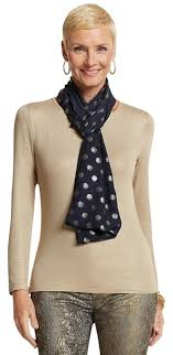 chico clothing chico s navy blue foil dot infinity scarf wrap tradesy