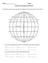 longitude and latitude worksheet latitude longitude worksheet