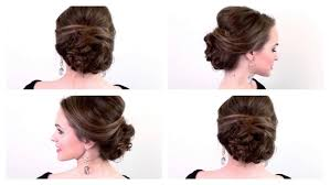 how to make bridal hairstyle 5 minute party updo youtube