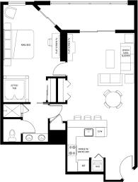 One Bedroom Floor Plans One Bedroom Floor Plan
