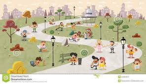 in the park stock vector image of park 54084672