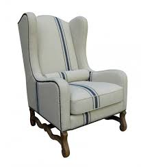 linen club chair camilla striped linen and blue club chair