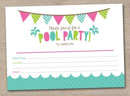 free printable pool party invitations for your inspiration