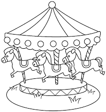 carousel horse circle coloring pages place color