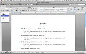 How To Build A Resume In Word Right Justify Dates In A Resume Using Word For Mac 2011 Youtube
