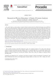 research in physics education a study of content analysis pdf