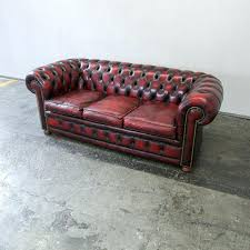 Chesterfield Leather Sofa by Leather Sofa Oxblood Leather Furniture Oxblood Leather Sofa Bed