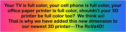 rova4d full color blender 3d printer