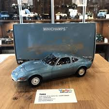 land rover minichamps minichamps 1 18 opel gt 1972 blue metallic 180049030 u2013 yomacarmodel