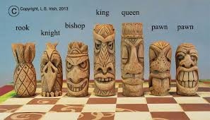 tiki chess set beginner s wood carving project by lora s