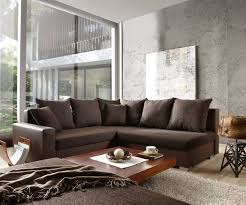 ecksofa mit ottomane sofa lavello dunkelbraun mit hocker 210x210 ottomane rechts ecksofa
