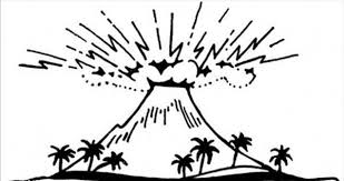 great volcano drawing coloring page netart