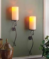 Flameless Candle Wall Sconce Set Of 2 Ivory Led Flameless Candle Wall Sconces Living Room