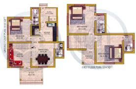 1492 SQ FT 3BHK DOUBLE FLOOR HOME DESIGN