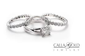 three ring wedding set diamonds butterflies and chagne aaron and tina s story