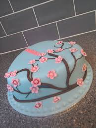 Heart Shaped Japanese Cherry Blossom Birthday Cake Cakecentral Com