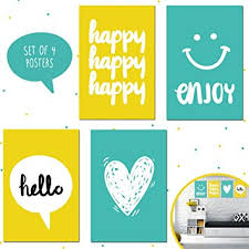 Poster Decoration Ideas Amazon Com Set Of Four 11x17 Motivational Posters Perfect For