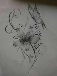 cute flower and butterfly tattoo tattoos pinterest tattoo