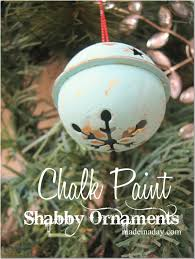 shabby chalk paint ornaments