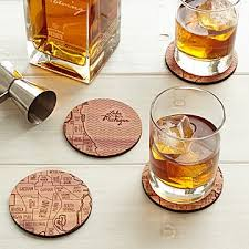 houston map glasses neighborwoods map coasters laser etched city maps uncommongoods