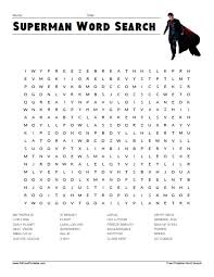superman word free printable allfreeprintable