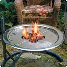 Fire Pit Inserts by Unique Arts Stainless Steel Gel Fuel Burner Insert Fire Pit In