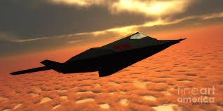 stealth fighter jet side view painting by corey ford