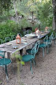 rustic outdoor picnic tables penelope bianchi s home in santa barbara wonderfully rustic
