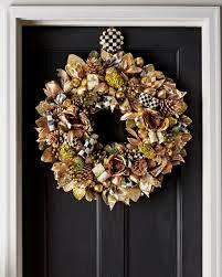 mackenzie childs courtly check wreath hanger