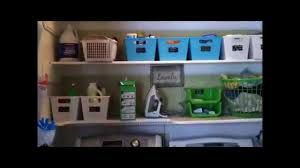 laundry closet organization and converting bifold doors youtube