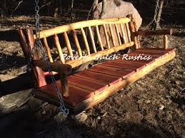 red cedar log benches bench decoration