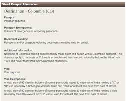 colombia visa for indians backpack me