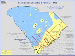 sc highway map the royal colony of south carolina counties and parishes as of 1750