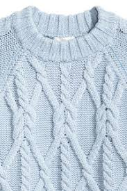 light blue cable knit sweater cable knit sweater light blue sale h m us