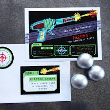 laser tag party invitation and printables in the shop anders
