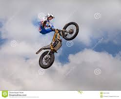motocross freestyle jumping with a motorcycle trial editorial photo image 30314326